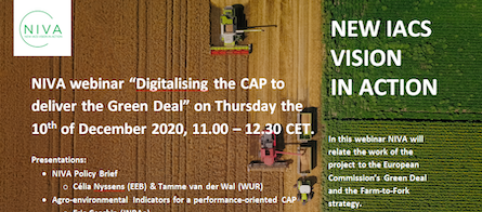 "Dec 10Th ABACO participates In Niva Webinar ""Digitalising the CAP to deliver The Green Deal"""
